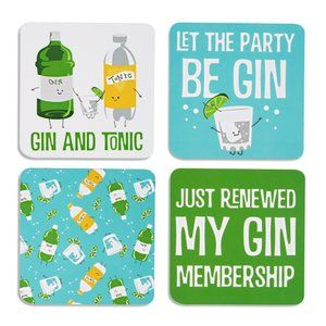 Gin & Tonic Coasters - Set of 4